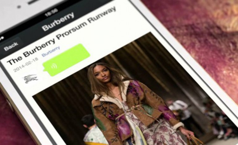 Burberry messaggia su WeChat