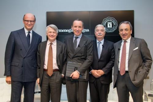 Paolo Zegna, Ferruccio De Bortoli, Gildo Zegna, William B.McGurn e Rosario Bifulco