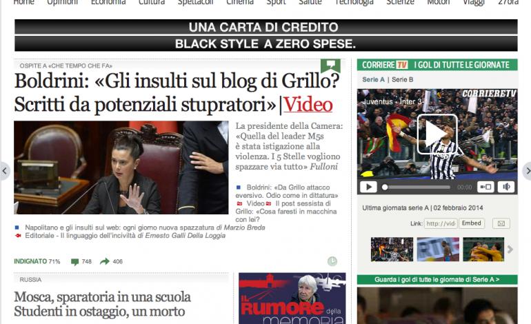 """Corriere.it, in arrivo un """"verticale"""" moda. Poi l'e-commerce"""