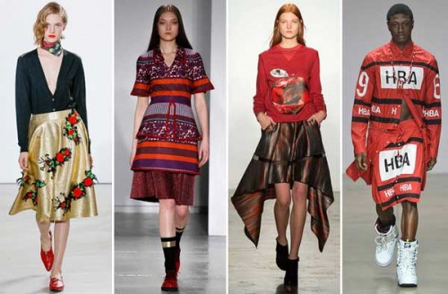 I look di Creatures of the Wind, Suno, Ostwald Helgason e Hood by Air (ph. Fashionista.com)
