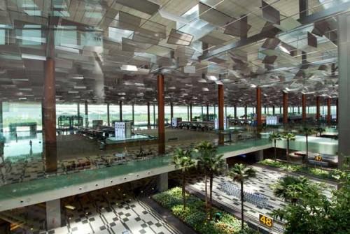 Un'immagine dell'aeroporto Changi di Singapore