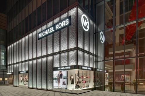 Faccioata dello store Michael Kors al Jing An Kerry Centre