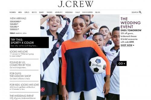 J Crew - Sito web