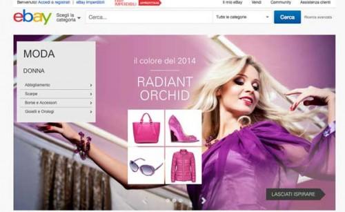 Una pagina di eBay Moda