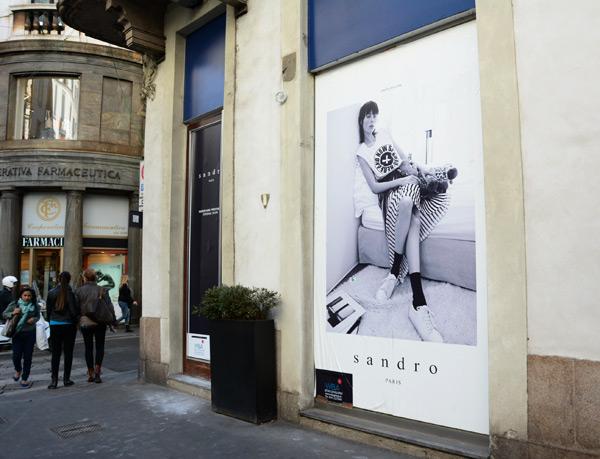 Sandro store via Manzoni
