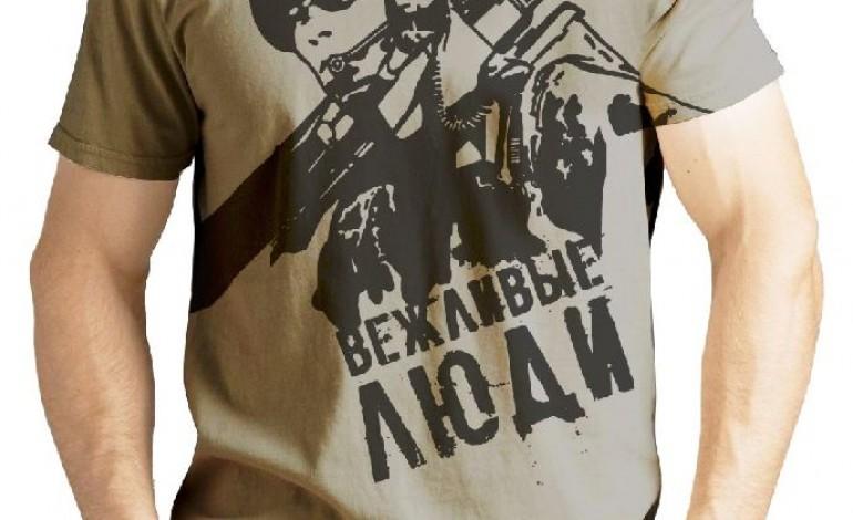La Crimea occupata sulle t-shirt filo-russe