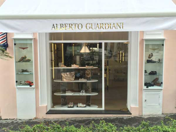 La boutique Alberto Guardiani a Capri