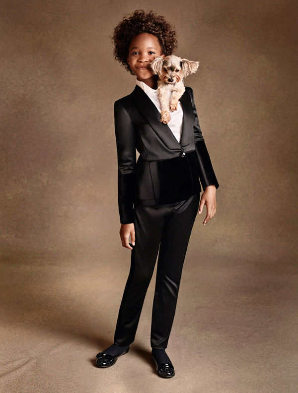 Quvenzhané Wallis in Armani Junior A/I 2014-15