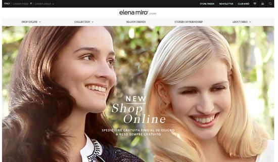 Homepage sito elenamiro.com
