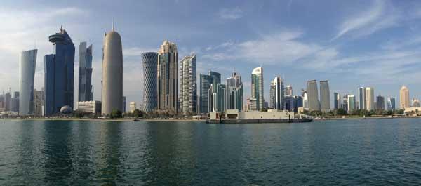 Lo skyline di Doha