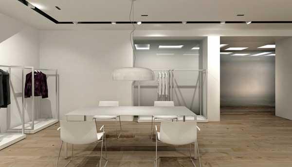 Un interno del nuovo showroom Giorgio Grati