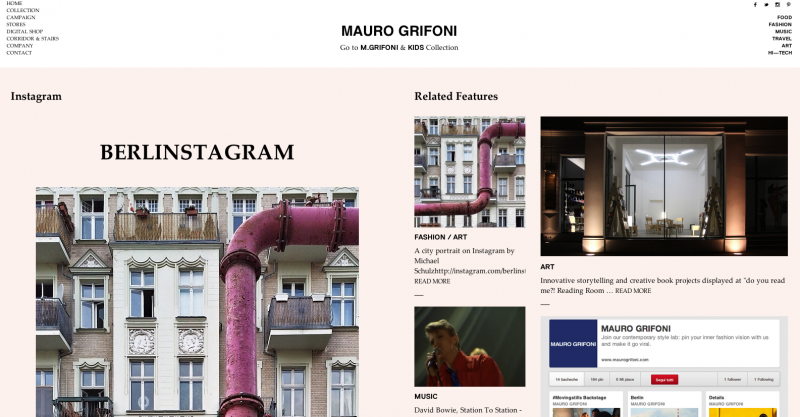 L'homepage del nuovo sito Maurogrifoni.com
