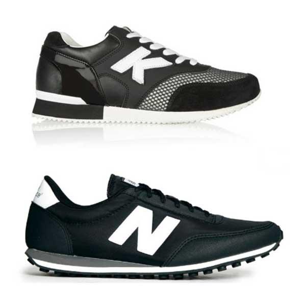 Un modello Lagerfeld e una sneaker New Balance (ph. Fashionista)