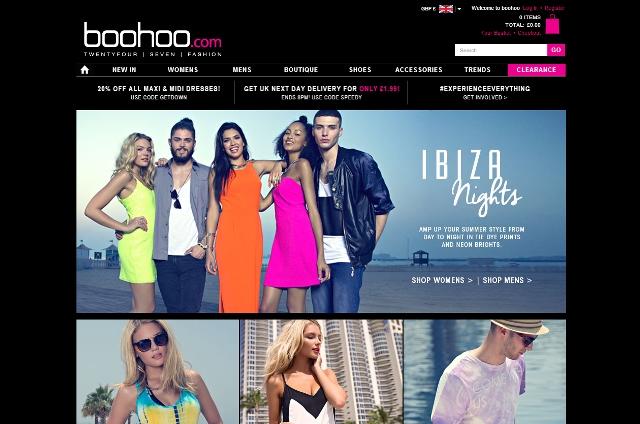 Home page boohoo.com