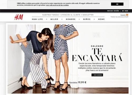 H&M - Sito web spagnolo