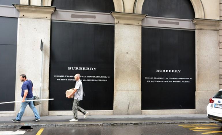 Burberry abbassa la serranda di via Verri