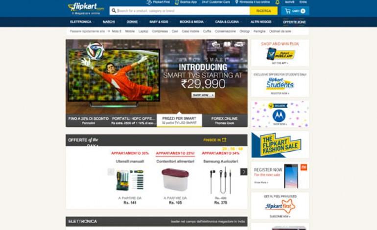 Raccolta di fondi record per Flipkart.com