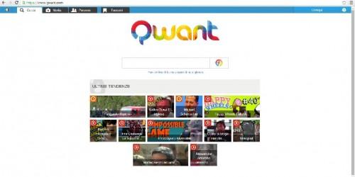 Home page di ricerca di Qwant.com