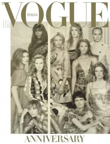Cover del numero di settembre 2014 di Vogue Italia
