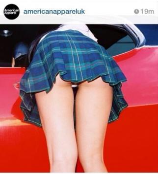 La foto pubblicata sul profilo Instagram American Apparel