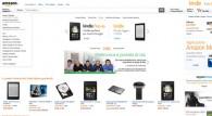 Screenshot della homepage del sito di Amazon