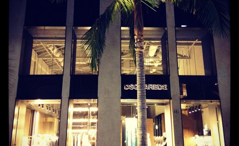 Dsquared2, prima boutique in America a Beverly Hills