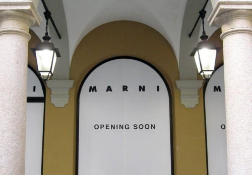 Vetrina del nuovo negozio Marni