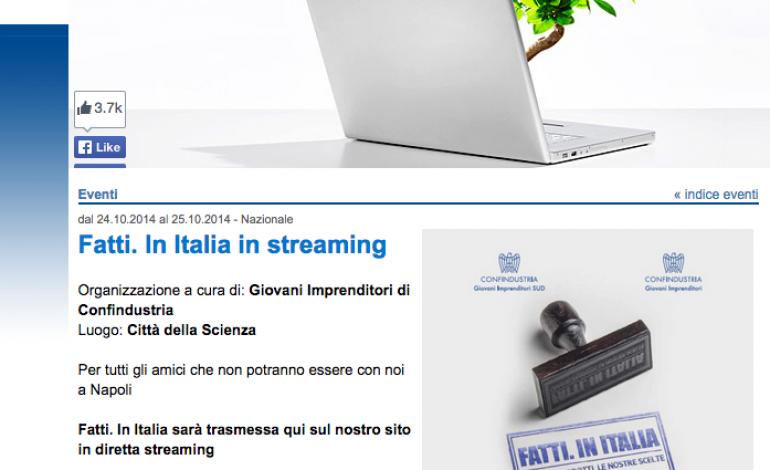 Giovani di Confindustria, obiettivo 'fatto' in Italy
