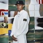 Un look della collezione a/i 2014 realizzata da Supreme e Stone Island