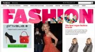 La schermata della sezione moda del sito del Telegraph