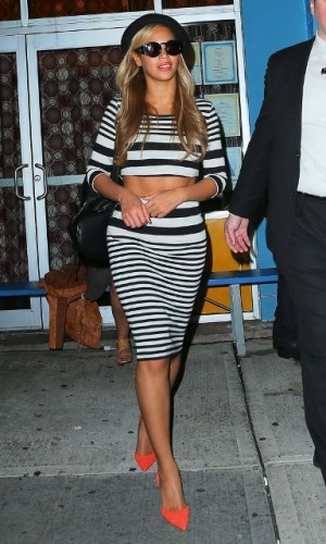 Beyonce al party di Kanye West a New York vestita Top Shop