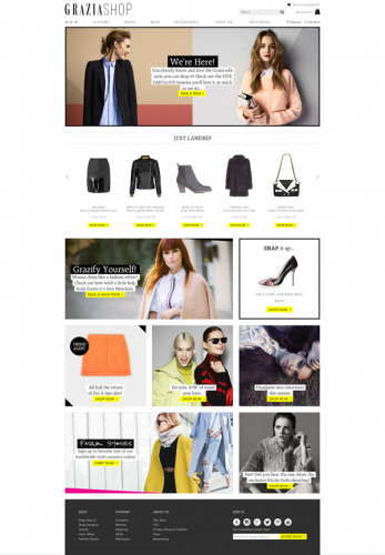GRAZIASHOP-homepage