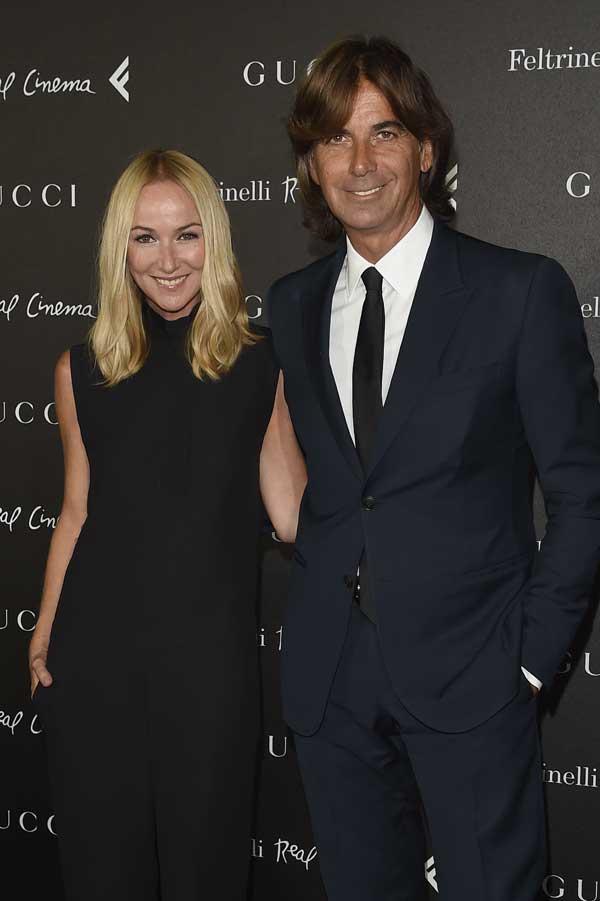 Frida Giannini e Patrizio di Marco in una recente foto insieme in occasione della presentazione a Roma di The Director