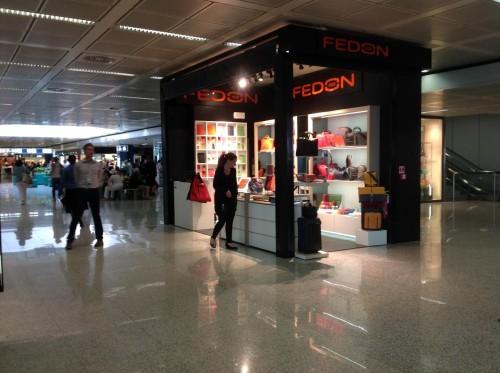 Il punto vendita Fedon all'aeroporto di Roma