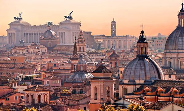 Una veduta di Roma