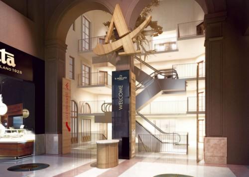 Un rendering dell'ingresso del Mercato del Duomo