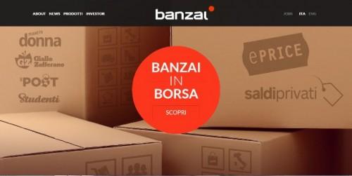 Banzai home page