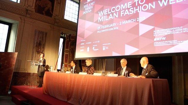 Conferenza stampa di presentazione di Milano Moda Donna