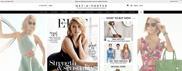 L'home page di Net-a-porter