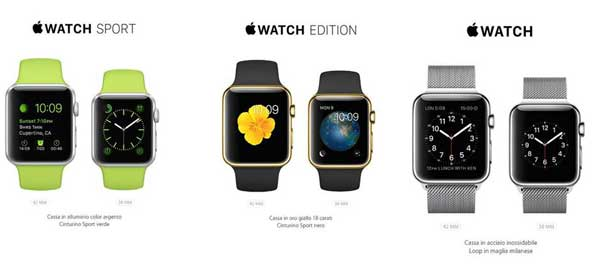 Tre proposte Apple Watch
