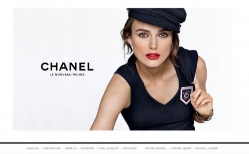L'home page di Chanel