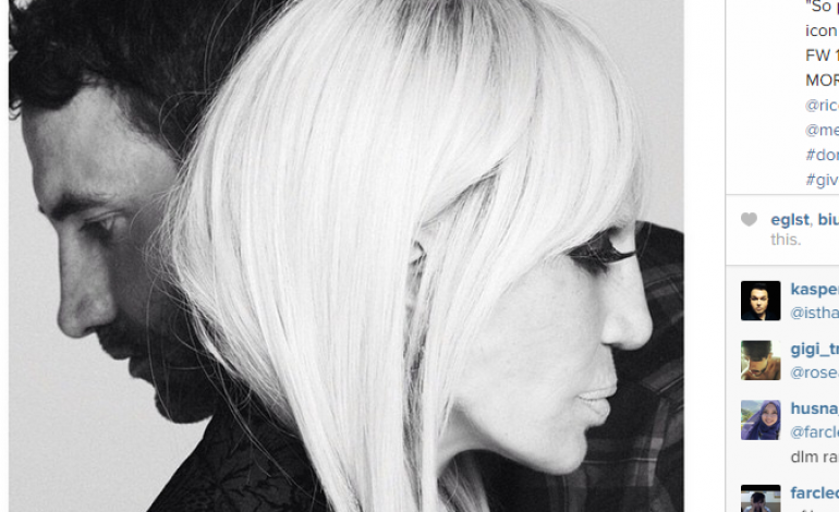 Donatella Versace posa per Givenchy