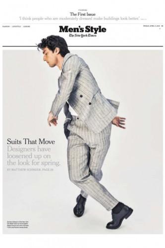 Prima pagina di Men's Style.