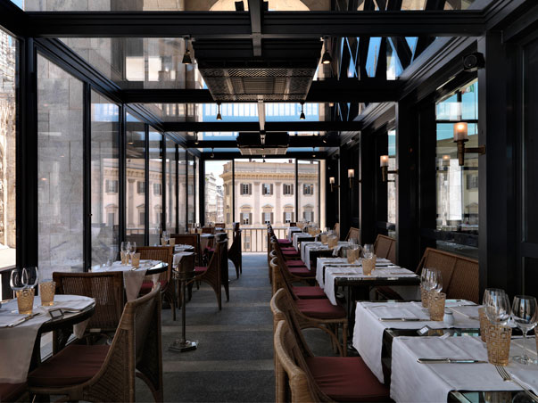 Una sala del ristorante Da Giacomo all'Arengario