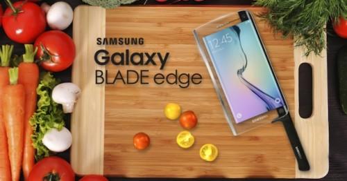 L'affilato smartphone Samsung.