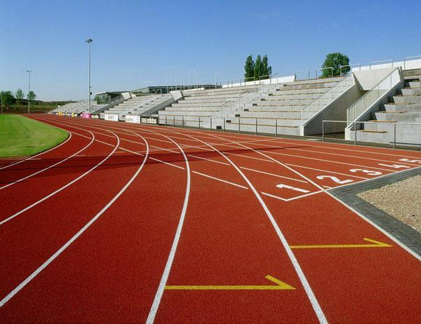 Un'immagine delle piste nella sede tedesca di Adidas