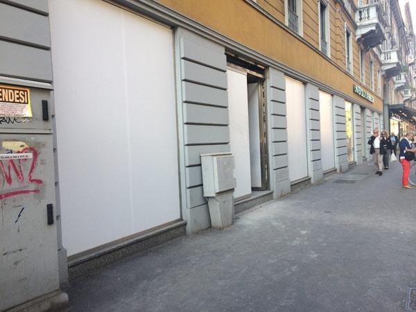Gli spazi in Corso Vercelli che vedranno l'apertura di H&M