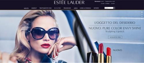 Homepage Esté Lauder
