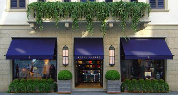 Lo store Ralph Lauren in via Montenapoleone