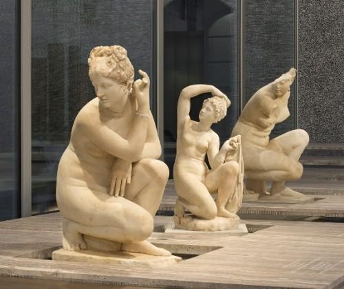 Opere esposte nella Fondazione Prada.
